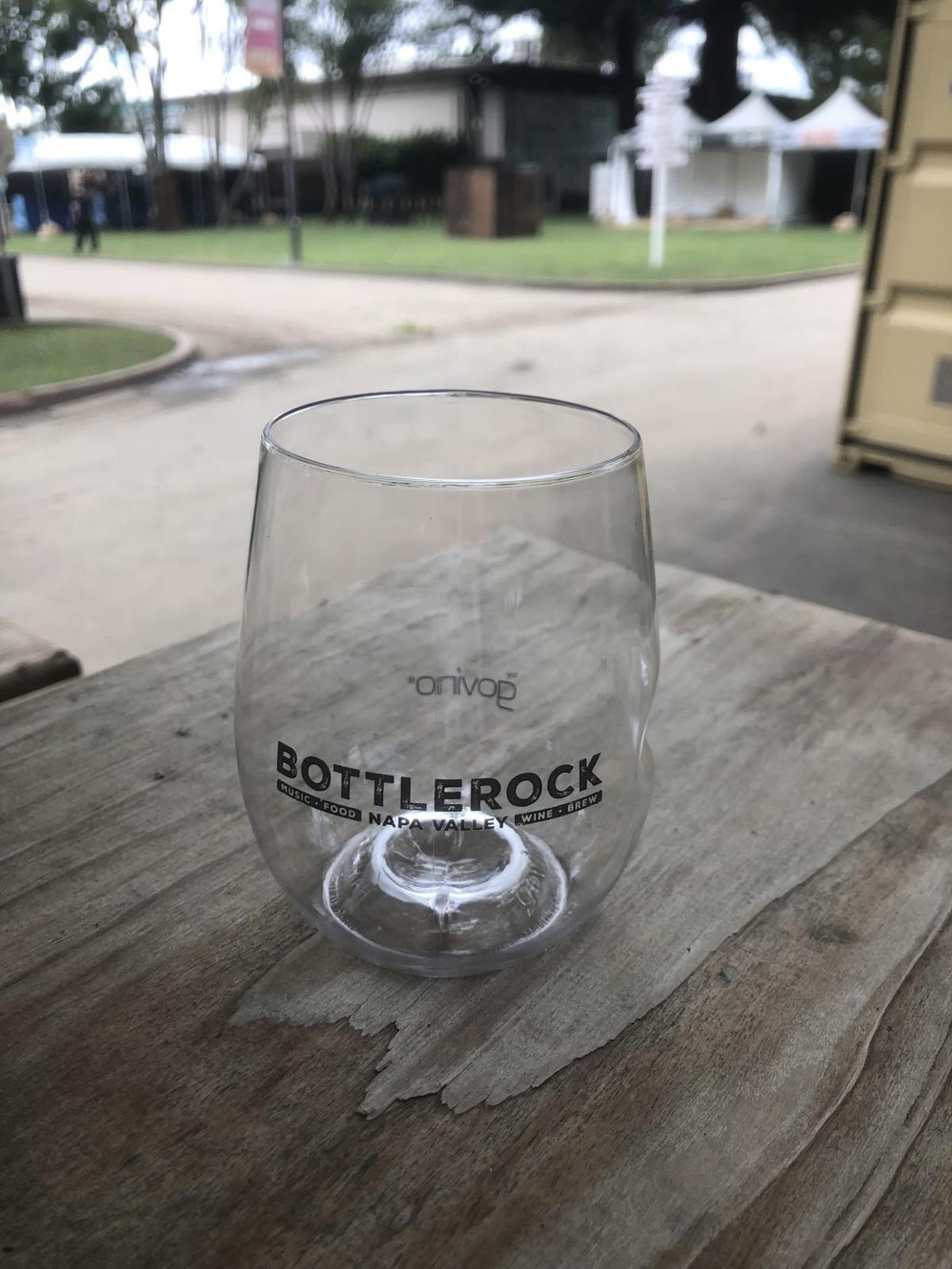 Reusable wine glass for BottleRock music festival in Napa