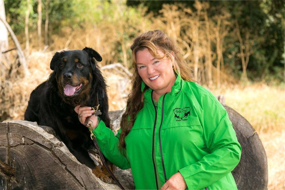 Melodie Durham is the owner of a new Napa pet-sitting service called Tails Up! Napa Valley