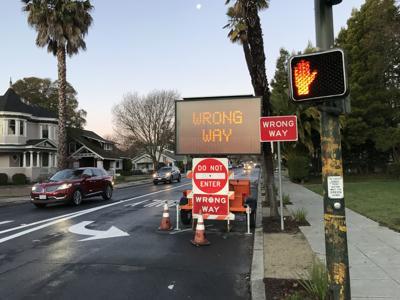 Do Not Enter signs First Street