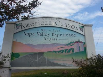 American Canyon welcome sign