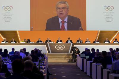 IOC President Thomas Bach, AP photo