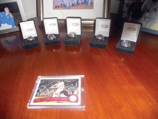 Rossi's trophy room
