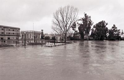Veteran's Park flooded