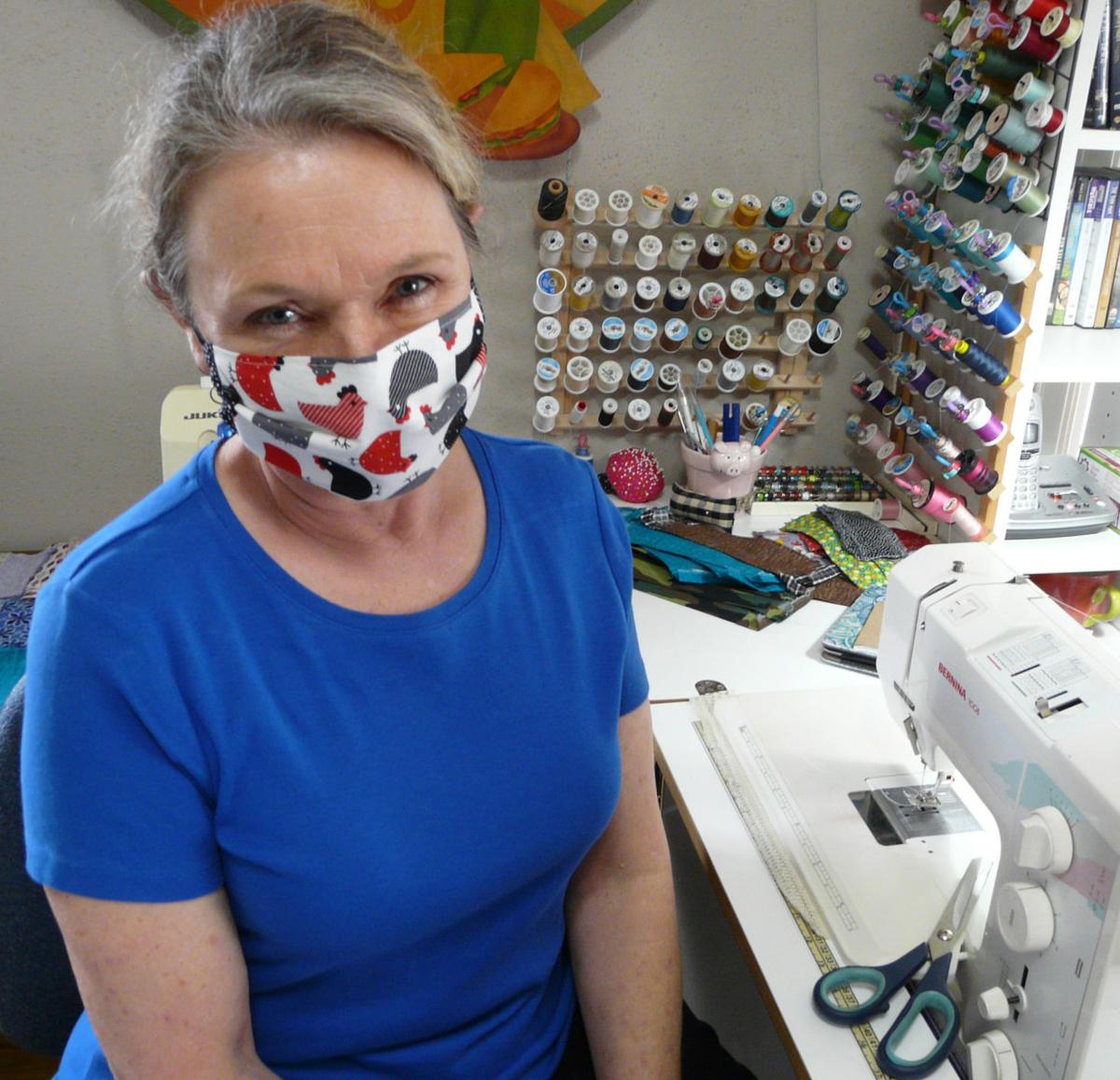 Lorna Ritter in her mask-making workshop submitted.jpg
