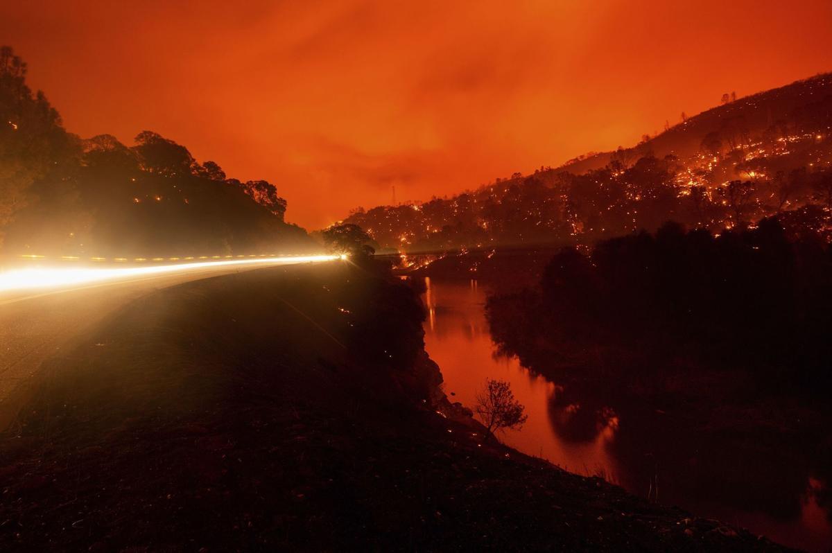 California Wildfires evacs