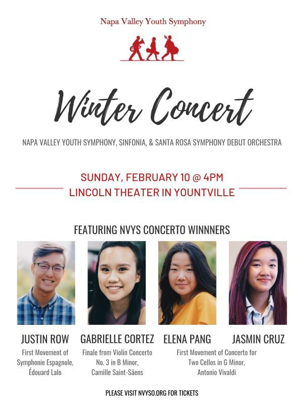 Napa Valley Youth Symphony Winter Concert