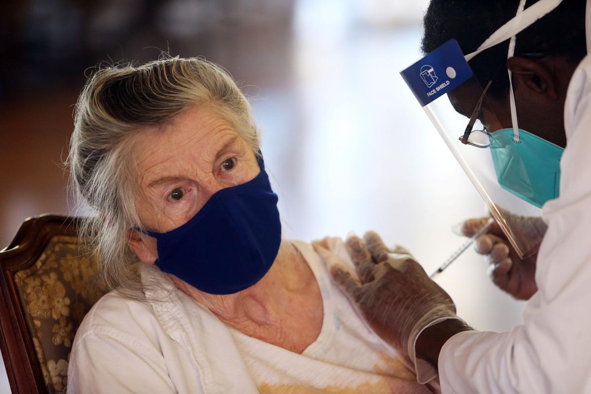 Coronavirus vaccine clinic at Brookdale Napa