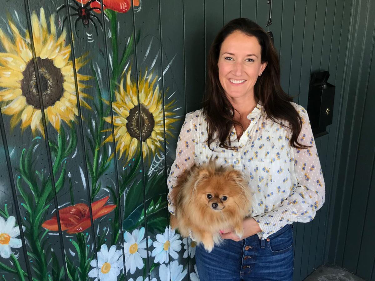Napa Valley Senior Living owner Krystal Smith and her dog Lulu.