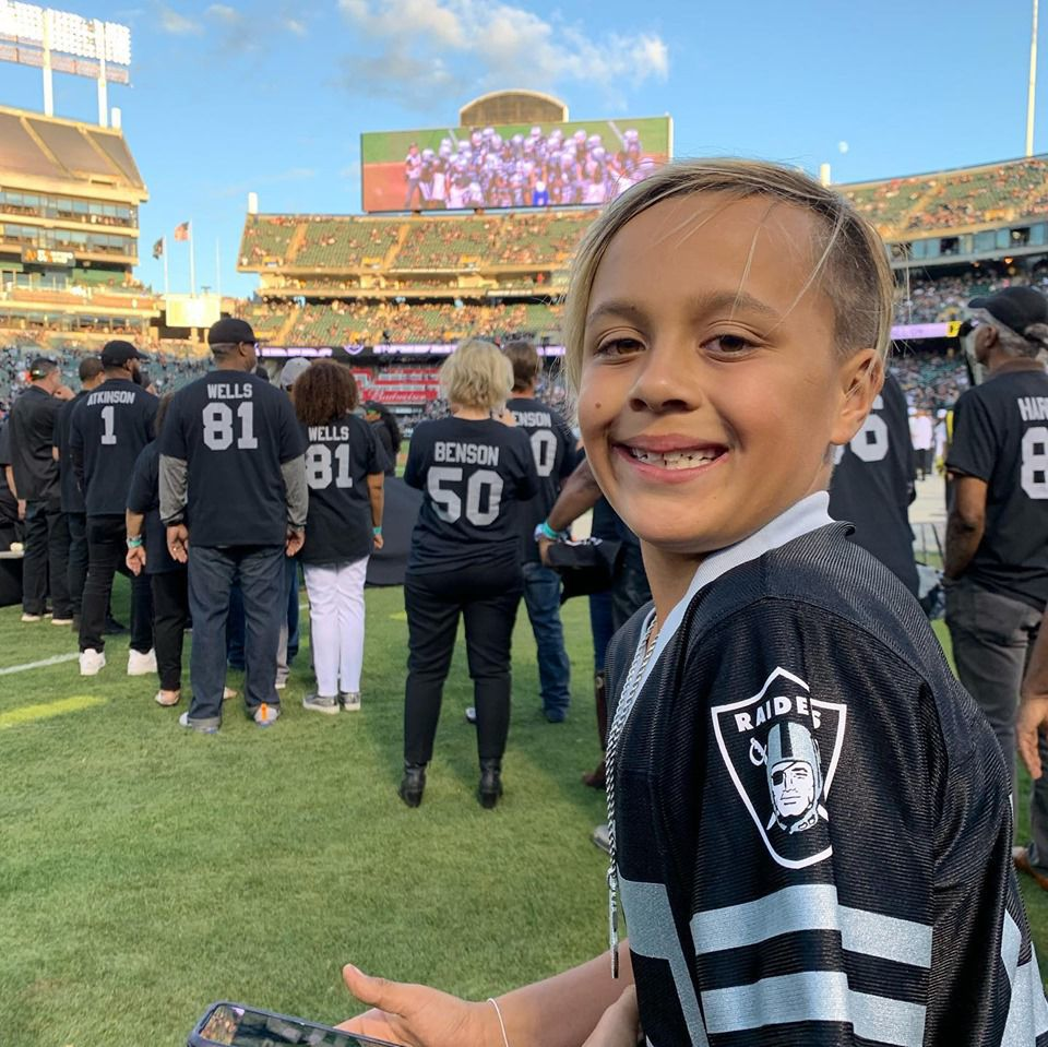 Ryan at Raiders game