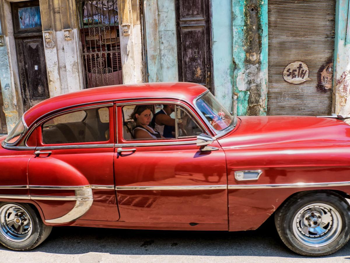 Red Car – Cuba