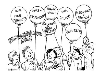 Cartoon comment by Joan Martens