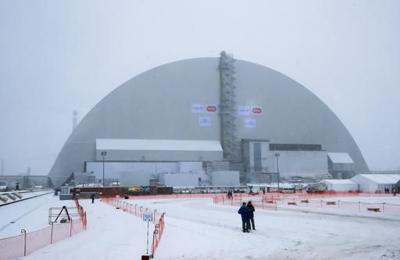 Chernobyl shelter safely placed over exploded reactor