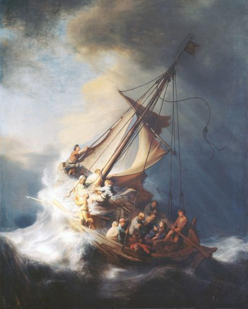 """Rembrandt's """"Christ in the Storm on the Lake of Galilee"""""""