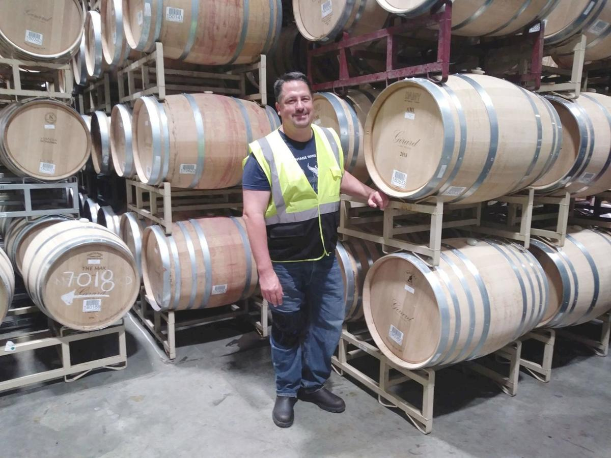Glenn Hugo in barrel room