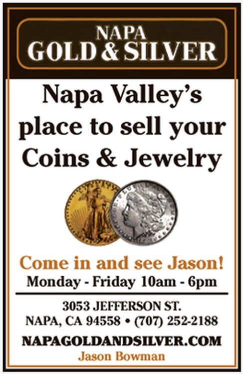 Napa Valley's place to sell your coins & jewelry