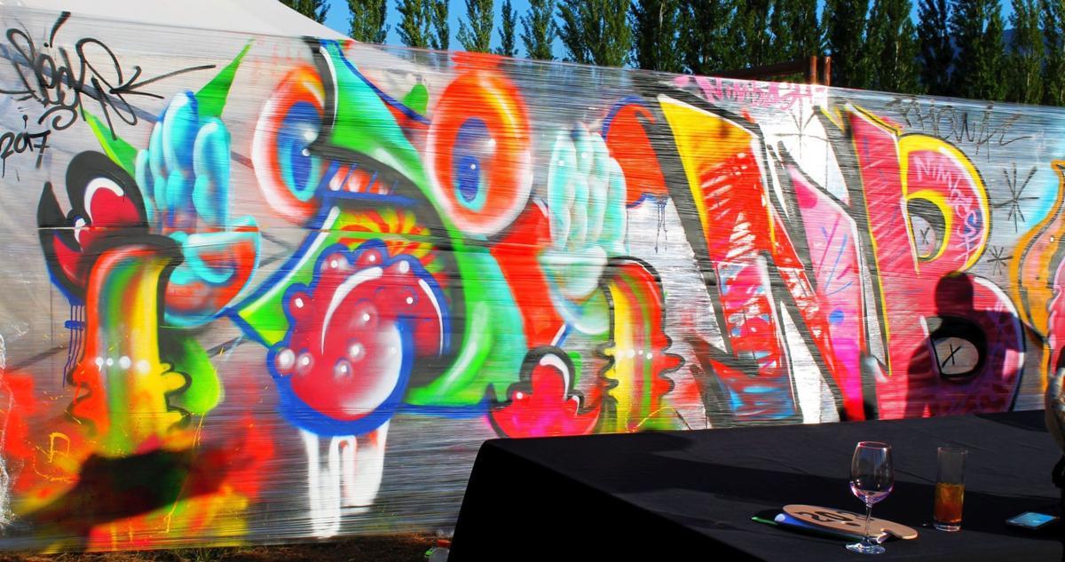 Graffti mural at NIMBASH 2017