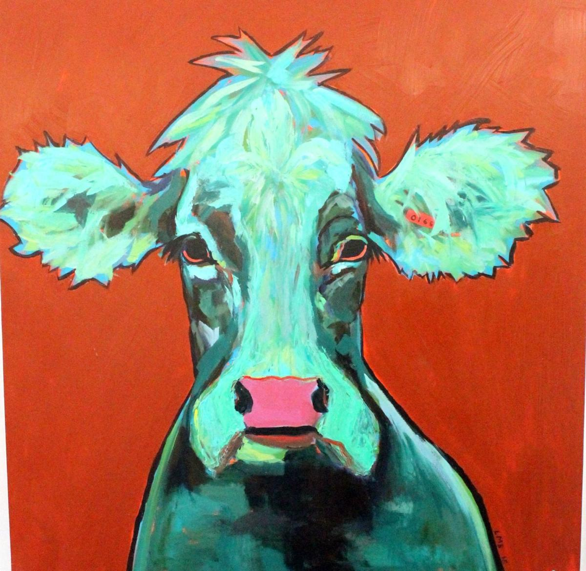 """""""Green Cow"""" by Laurie Shelton"""