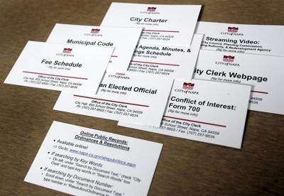 Variety of City of Napa Information Cards