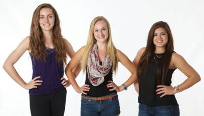 Cayla Bauer, Graycen Loveless and Alexa Hammond