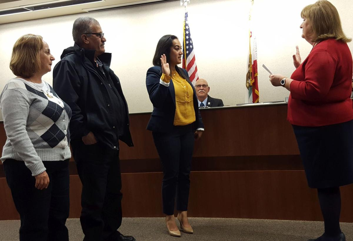 Mariam Aboudamous swearing in City Council