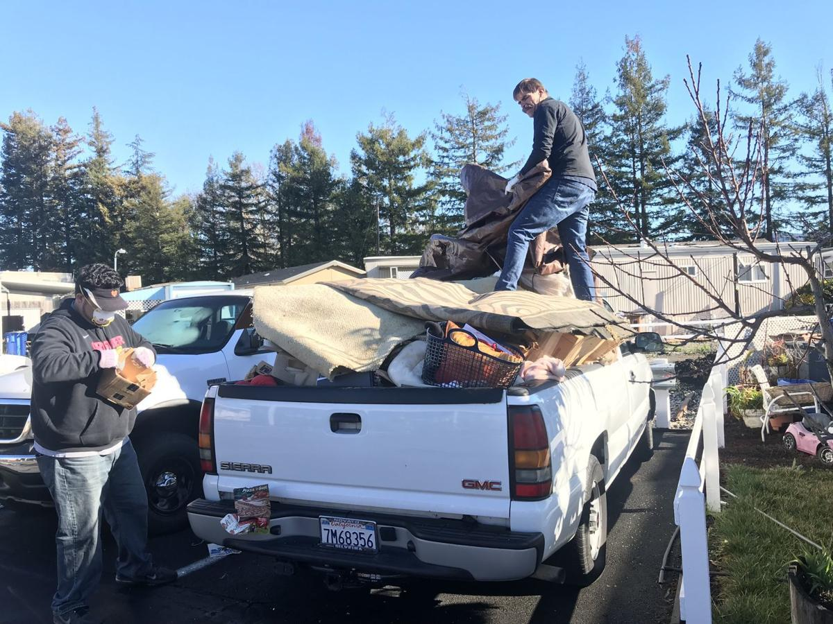A load of refuse removed from Fuller's mobile home in Napa