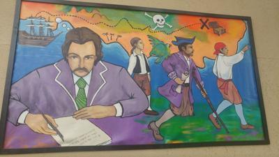 Robert Louis Stevenson mural