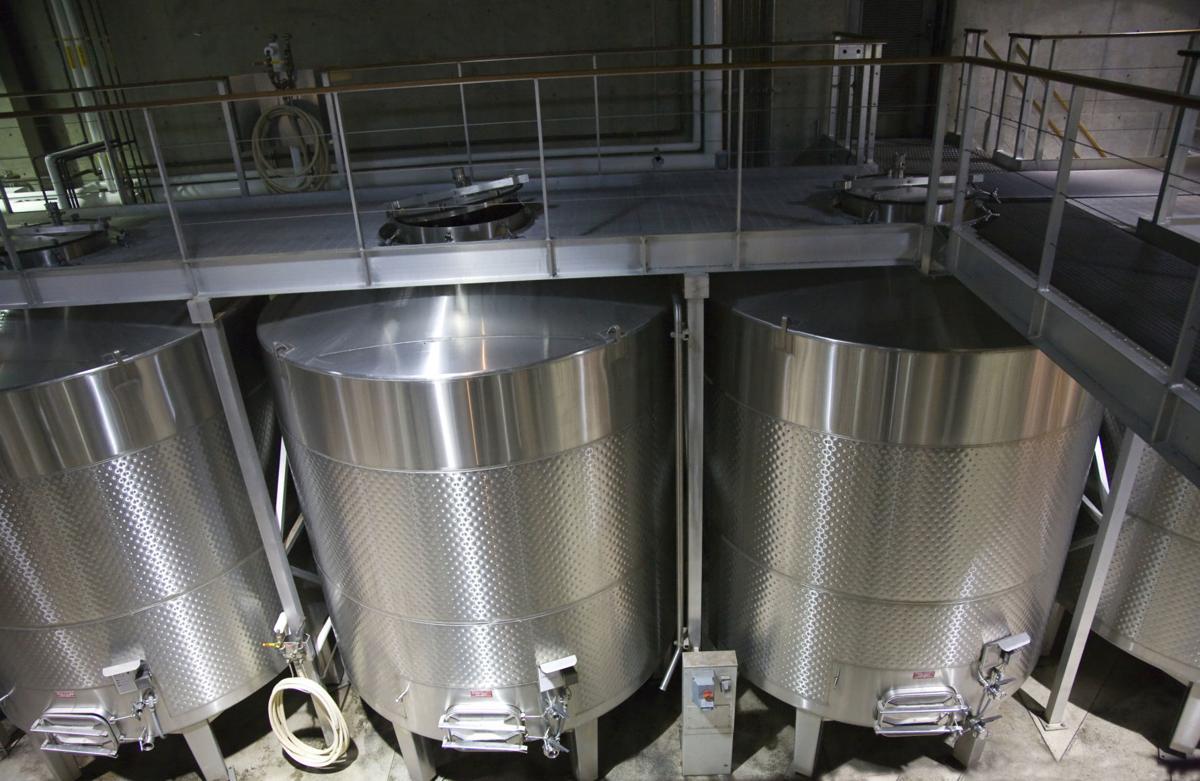 White Wine Stainless Steel Tanks Napa California