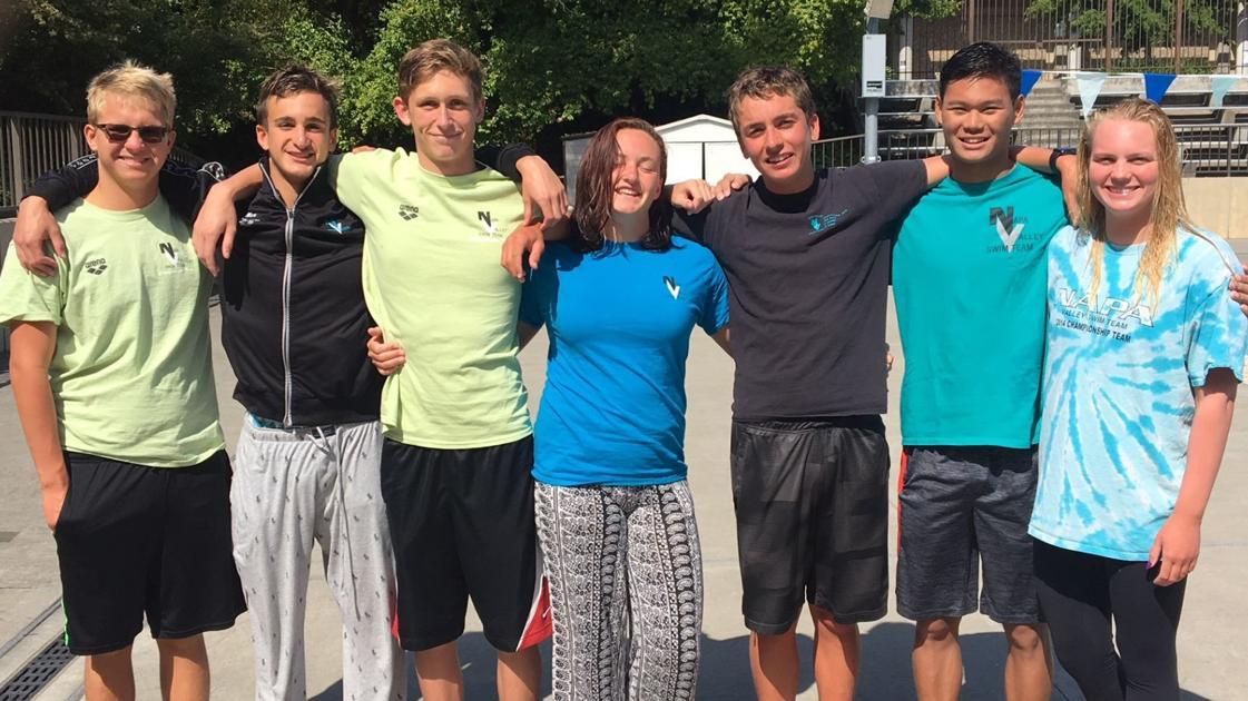 Wright siblings swim in Senior Meet for Napa Valley Swim Team