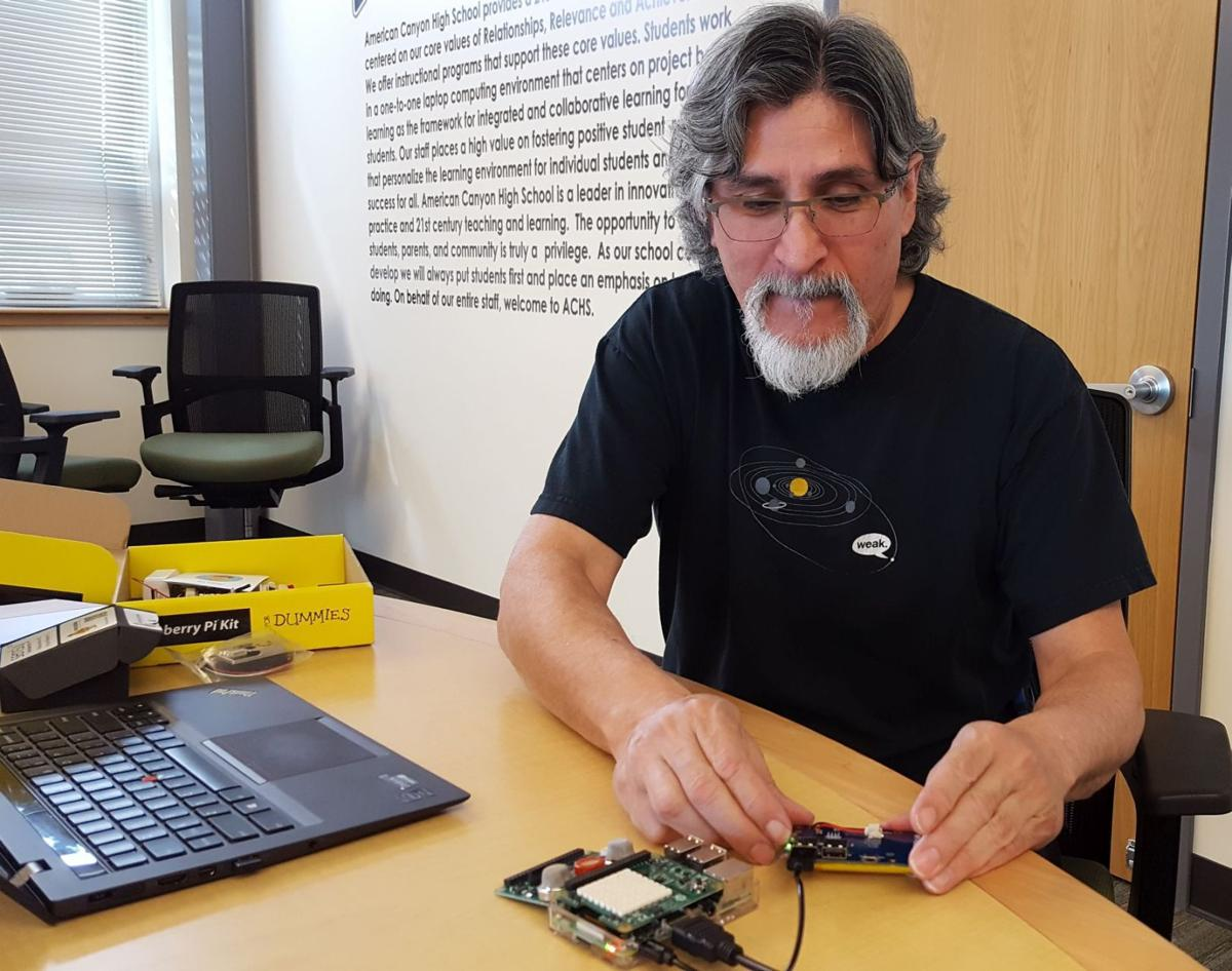 Daniel Rosales with Raspberry Pi