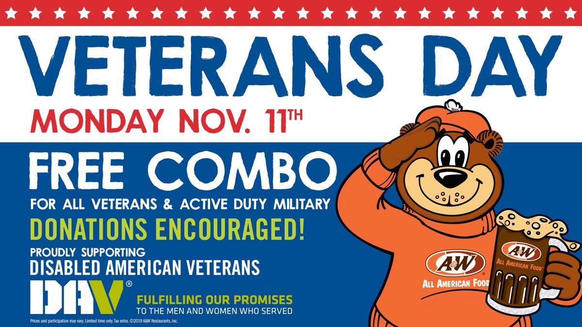 Veterans Day A&W Flyer