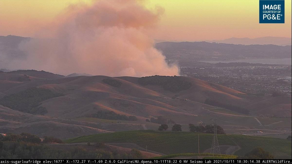 Vegetation fire in American Canyon