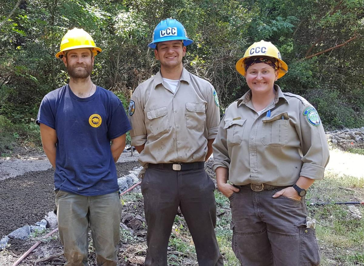 California Conservation Corps at work on Bothe Napa Valley State Park's History Trail
