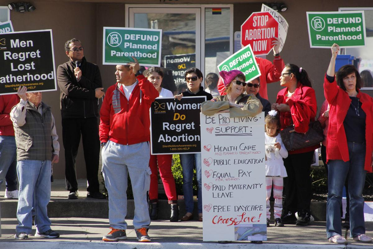 Demonstrators at Napa's Planned Parenthood have contrasting views