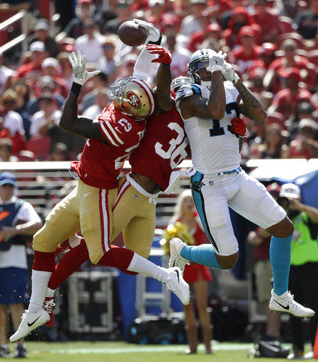 Newton throws 2 TDs to lead Panthers past 49ers 23-3