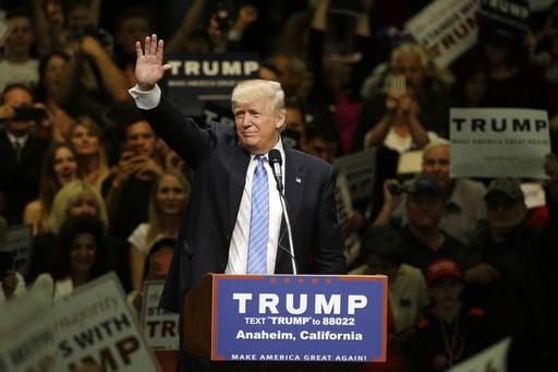 Trump visits California, 2016
