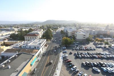 Downtown Napa overhead