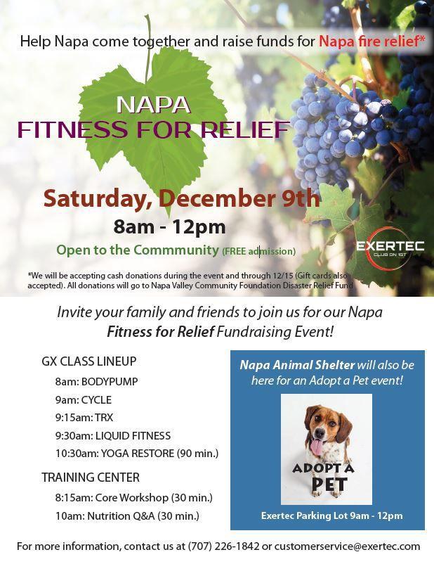 Exertec to host fire fundraiser/fitness event Dec. 9