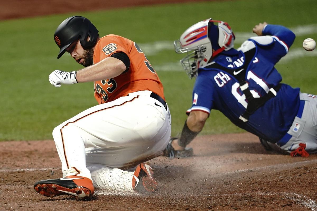 Rangers Giants Baseball