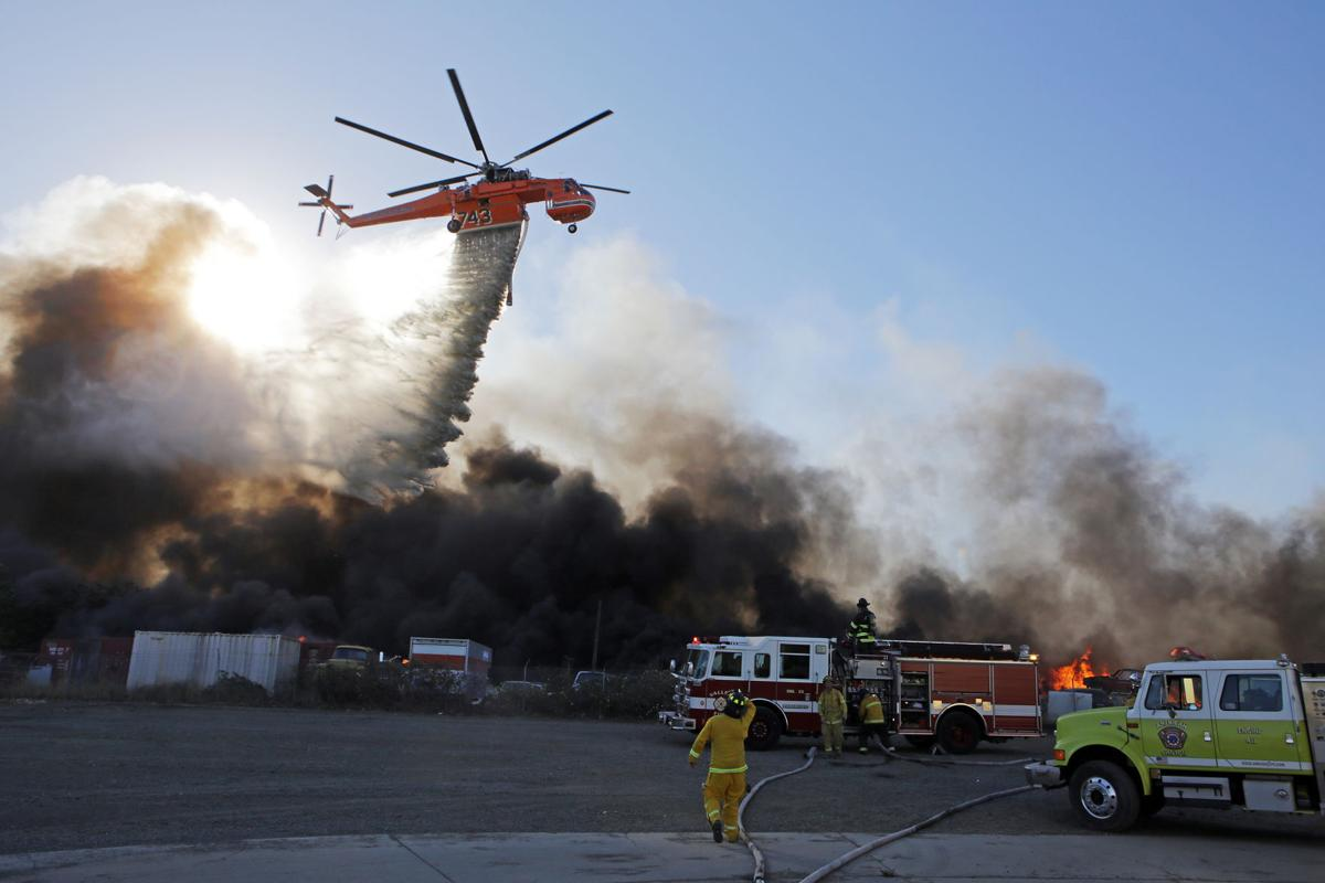 Vegetation fire south of Napa County Airport