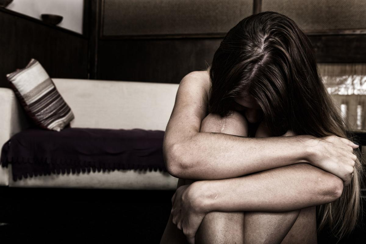 Domestic violence stock art
