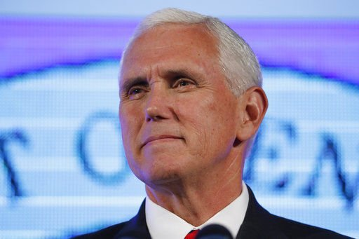 Vice President Pence avoids political fray surrounding him