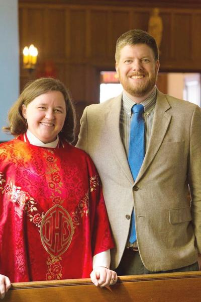 The Rev. Anne Clarke and her husband, Myles.
