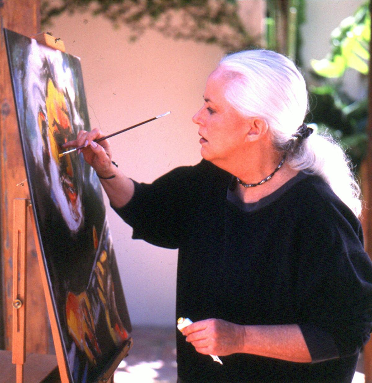 Grace Slick while painting