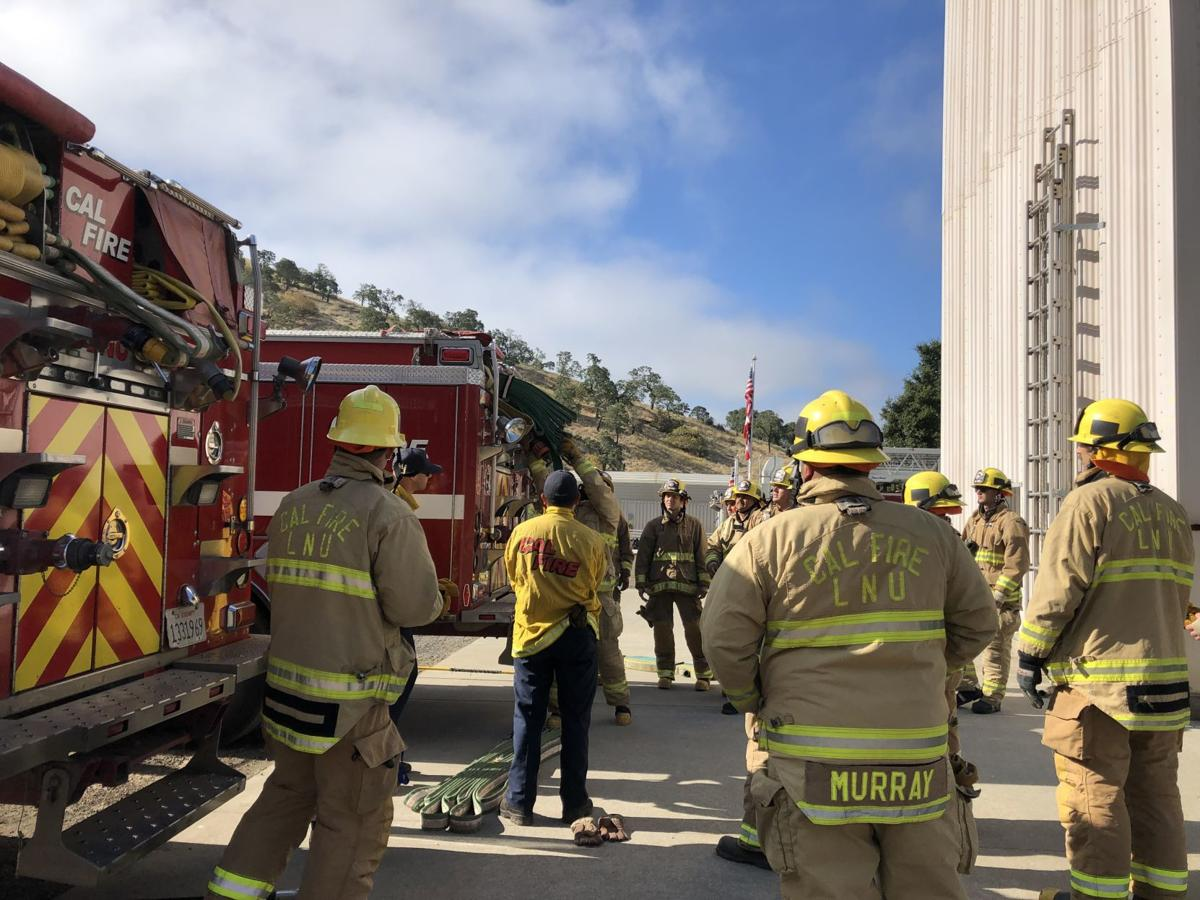 2019 Cal Fire seasonal training at Napa County Fire Department Training Grounds