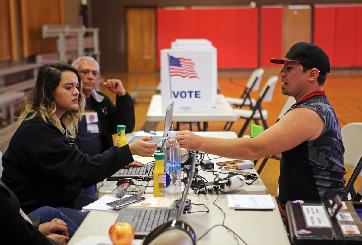 Voting in Napa at assistance center