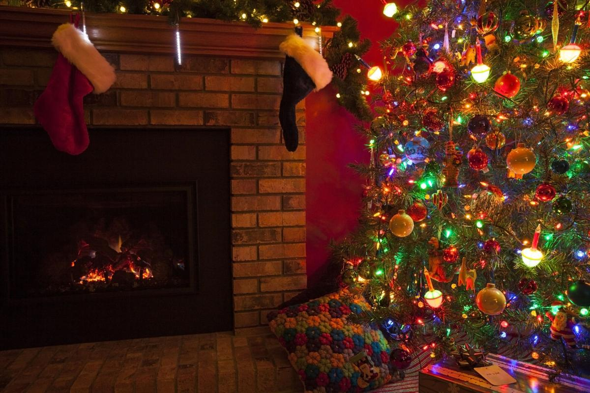 The fireplace and Christmas ideas