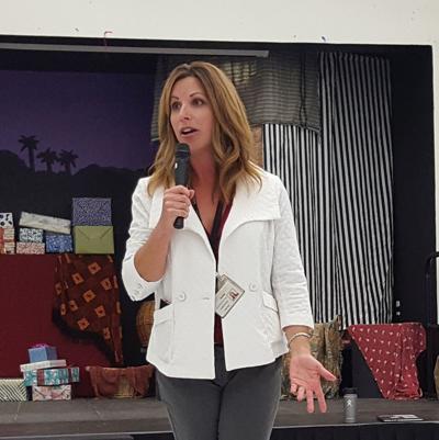 Cheri Flohr addresses Browns Valley parents