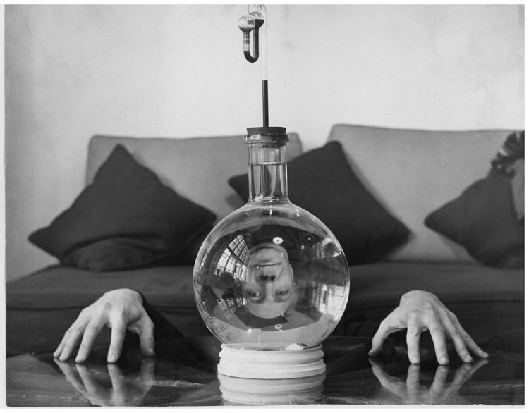 ENRICO DONATI IN HIS STUDIO, 1950'S