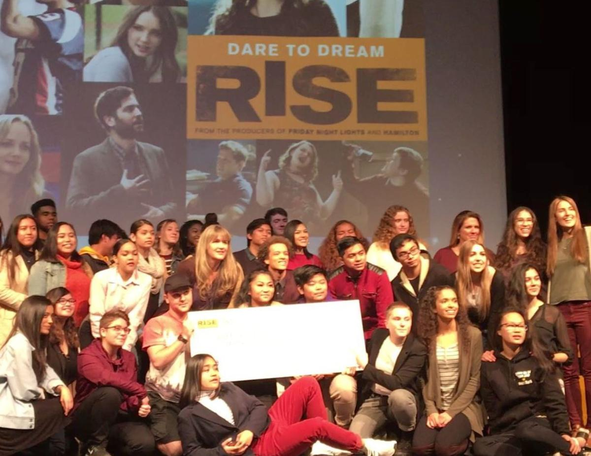 American Canyon students group shot Rise grant announcement