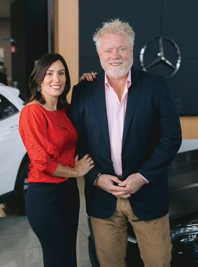 Erin and Adam Simms of Price Simms Family Dealerships